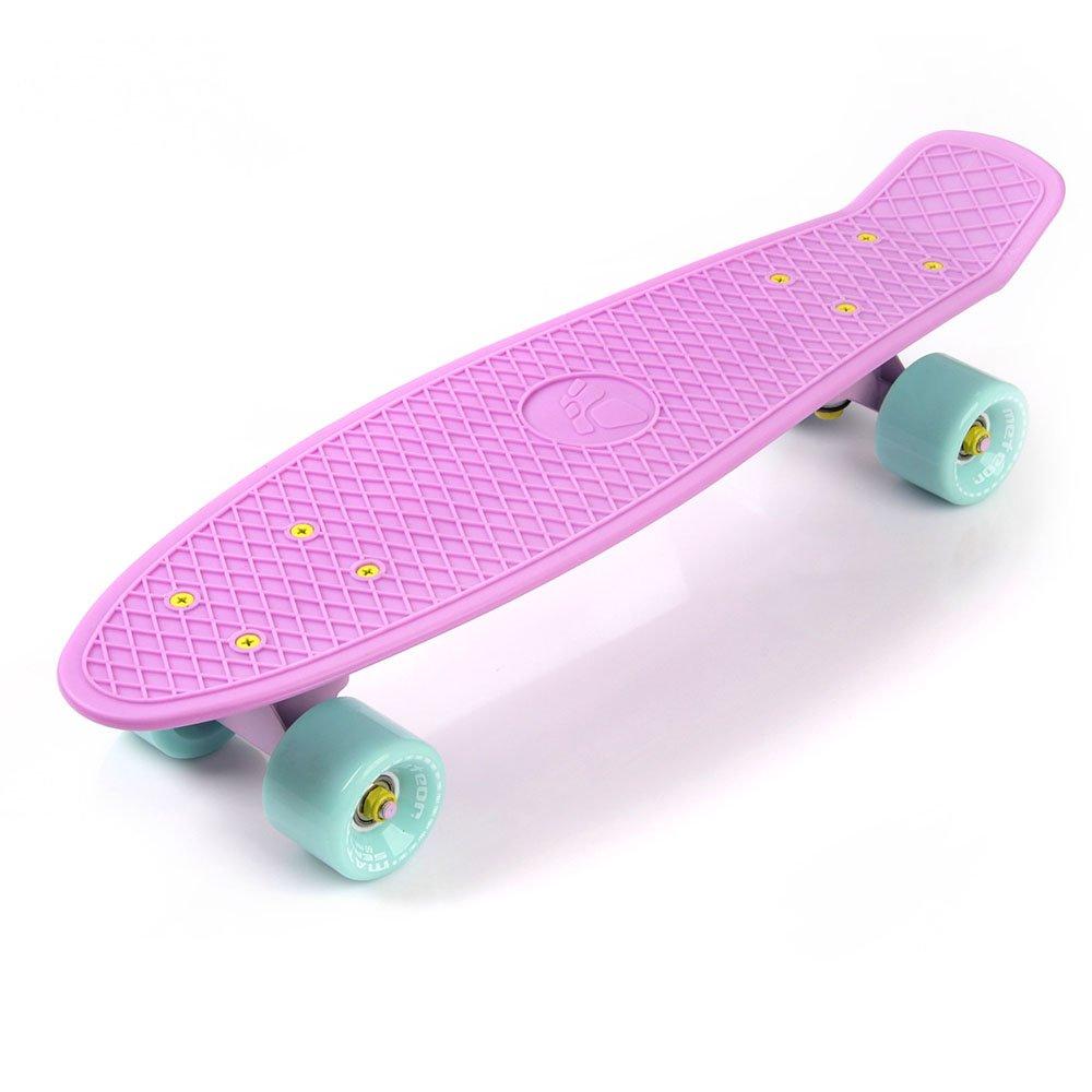 Plastic Skateboard Meteor Matt Pink Minth Pink And Minth