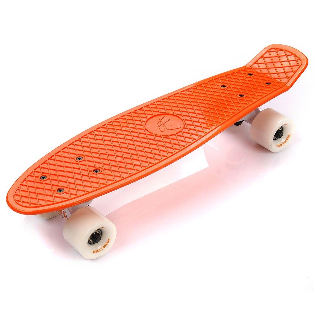 Plastic Skateboard Meteor Orange White White Sport