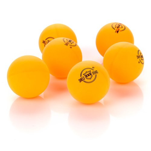 Shield table tennis balls - yellow