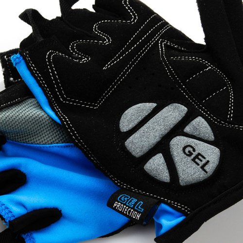 Bicycle GEL gloves Meteor Bike BX-3 blue