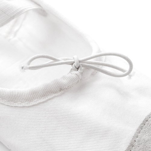 COTTON - LEATHER BALLET SHOES METEOR white