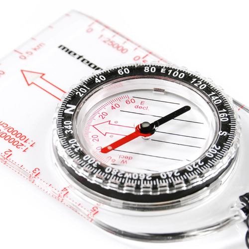 Compass Meteor semicircular with ruler