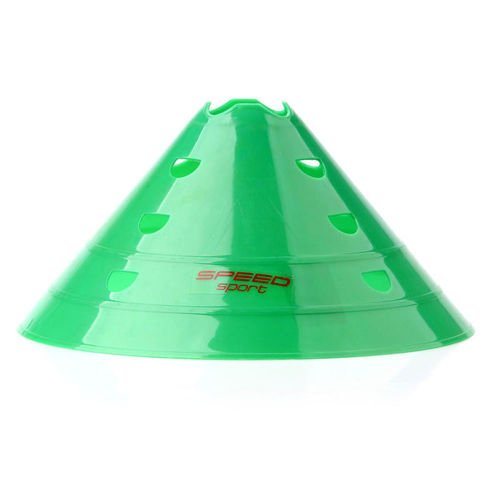 Cone 20 cm with holes green