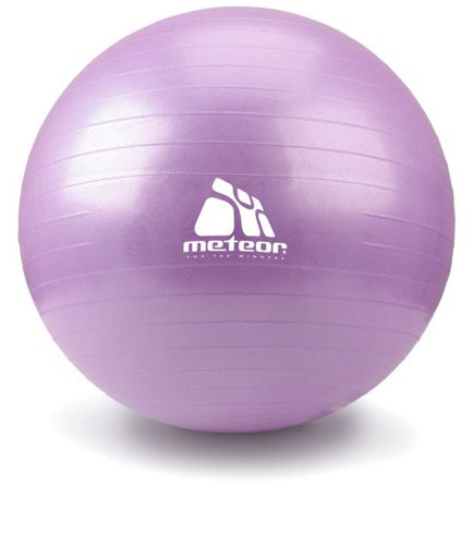 Fitness ball Meteor 65 cm with a pump - pink