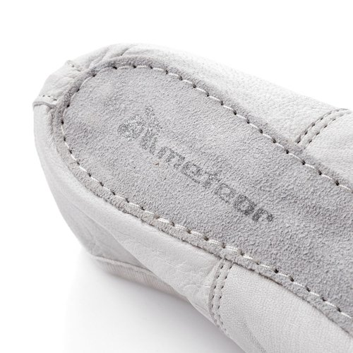 LEATHER BALLET SHOES METEOR white