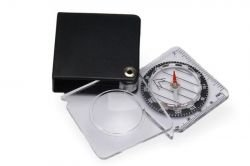 Meteor compass with a magnifying glass in case