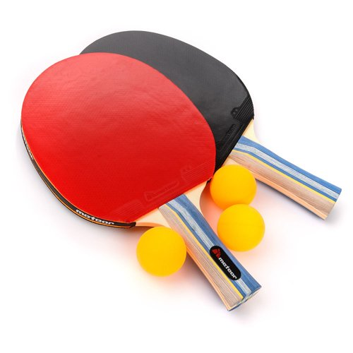 Set of 2 Table tennis rackets Meteor QIN and 3 balls
