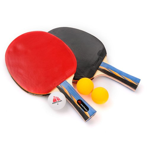 Set of 2 Table tennis rackets Meteor SUI and 3 balls
