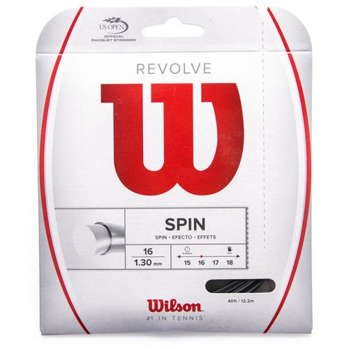 TENNIS STRINGS WILSON REVOLVE 16 BK WRZ946800, black