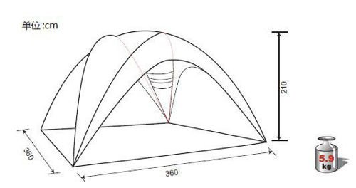 Tent King Camp SUPERIOR KT3084