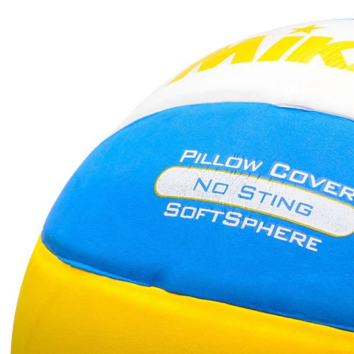 VOLLEYBALL MIKASA BEACH yellow with blue and white