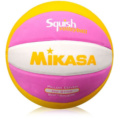 VOLLEYBALL MIKASA BEACH yellow with rose and white