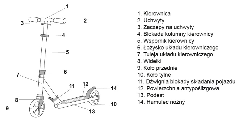 Hulajnoga aluminiowa RACER Q4 Meteor