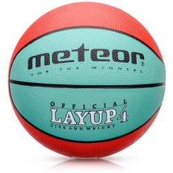 BASKETBALL METEOR LAYUP #4 red-green