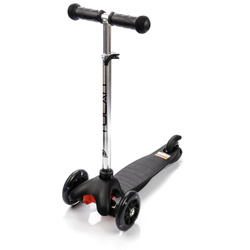 METEOR SCOOTER THREE-WHEEL WITH LED WHEELS TUCAN black