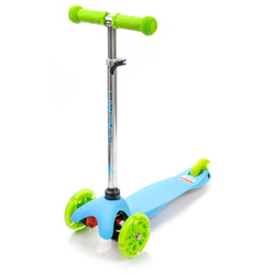METEOR SCOOTER THREE-WHEEL WITH LED WHEELS TUCAN blue-green