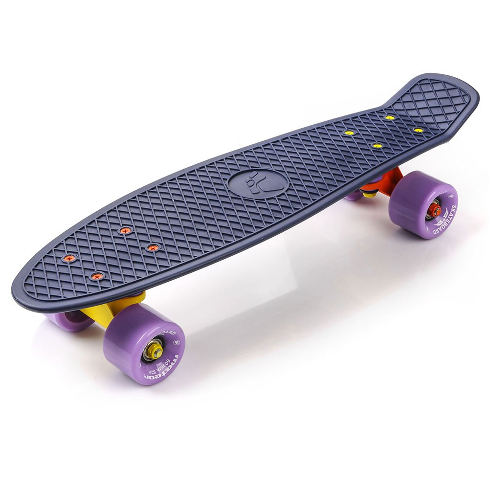 Bulk Skate Towels: PLASTIC SKATEBOARD METEOR MATT Navy/violet/orange And