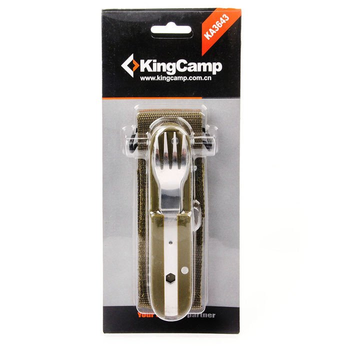 king camp travel cuterly set in cover tourism camping cutlery
