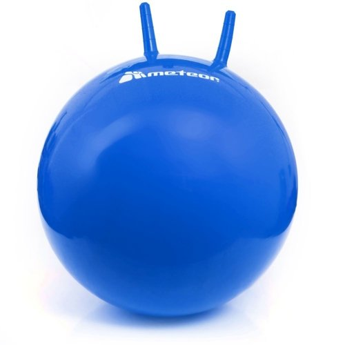 BOUNCY BALL METEOR 65 cm WITH HORN-SHAPED HANDLES